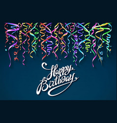Party background with horn birthday background vector