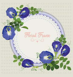 Pea-flowers vector