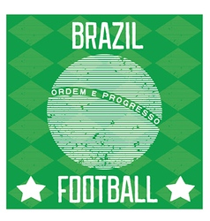 Poster for the world cup in brazil vector