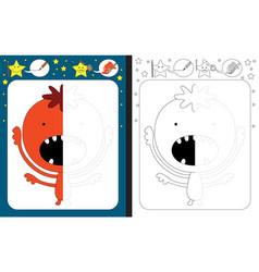 preschool worksheet vector image