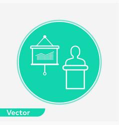 presentation icon sign symbol vector image