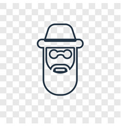 Rabbi concept linear icon isolated on transparent vector