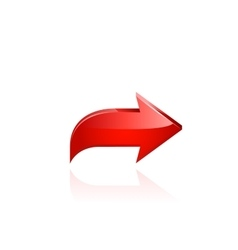 Red arrow vector image