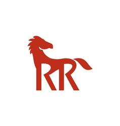 Red horse silhouette rr legs retro vector