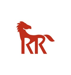 Red Horse Silhoutte RR Legs Retro vector