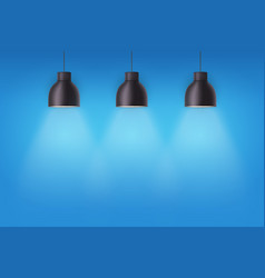 retro metal stylish ceiling cone lamps vector image