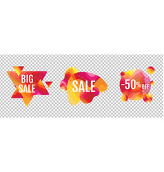 sale banner abstract liquid shape isolated vector image
