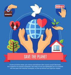 saving planet donation concept vector image