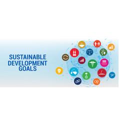 Sdg - sustainable development goals vector