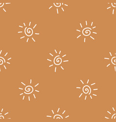 Seamless background sun gender neutral pattern vector