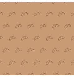 Seamless croissant pattern food vector