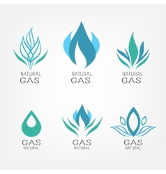 Set of gas icons vector