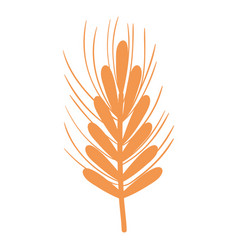 Silhouette healthy wheat organ plant nutricious vector