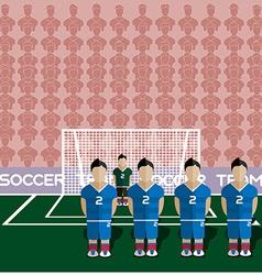 Slovakia soccer club penalty on a stadium vector
