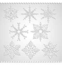 Snowflakes falling shadow vector image