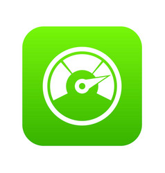 speedometer icon digital green vector image