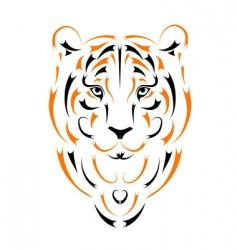 tiger symbol 2010 year vector image