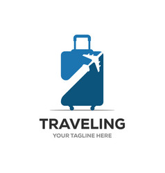 travel logo holidays tourism business trip vector image