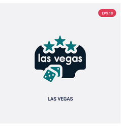 two color las vegas icon from maps and flags vector image