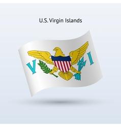 US Virgin Islands flag waving form vector