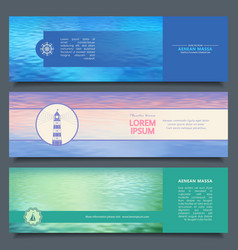 Water banners vector