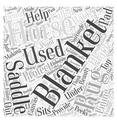 Whats That Under Your Saddle Word Cloud Concept vector
