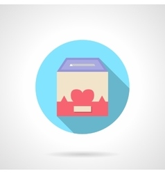Charity container round flat color icon vector