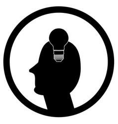 idea in human head vector image vector image