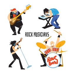 rock band music group with musicians vector image