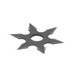 Shuriken isometric 3d icon vector image vector image