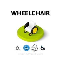 Wheelchair icon in different style vector image