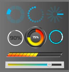 progress loading bar indicators download progress vector image vector image