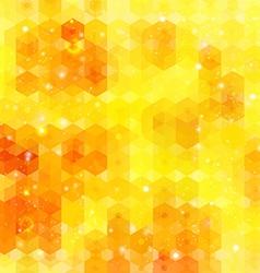 Yellow hexagon background image vector image
