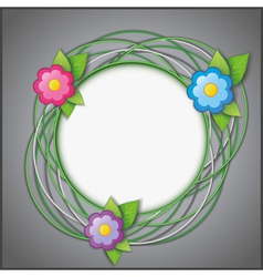 Abstract creative background with flowers vector image