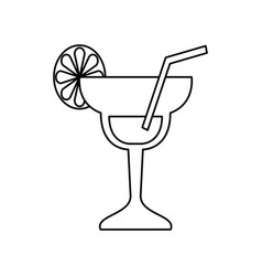 cocktail glass symbol vector image vector image