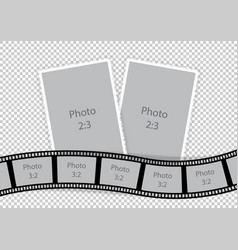 collage of photo frames from film template ideas vector image