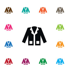 isolated coat icon jacket element can be vector image