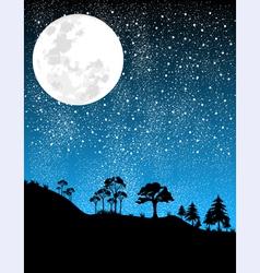 Night-moon vector