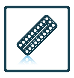 Contraceptive pil pack icon vector image vector image