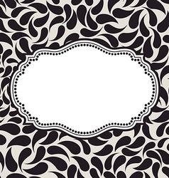 elegant background pattern Floral frame elements vector image