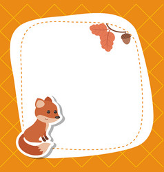 greeting card with cute fox greeting card with vector image