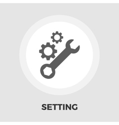 Setting icon flat vector image