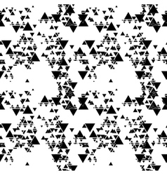 Triangular seamless pattern Abstract black vector image vector image