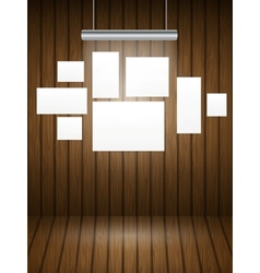 Wooden planks interior with light vector image vector image