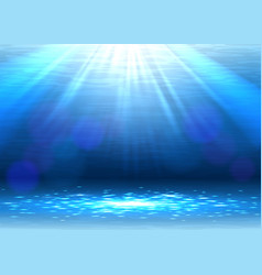 Abstract blue underwater background vector
