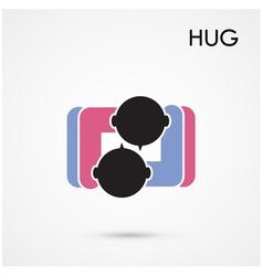 Abstract hug symbol vector