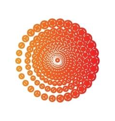 Abstract technology circles sign orange applique vector