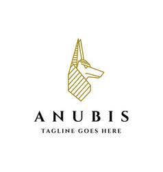 ancient anubis logo vector image