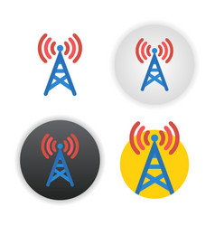 antenna icon on white vector image vector image