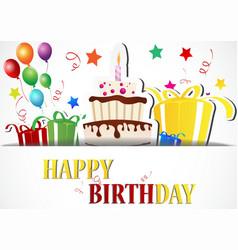 birthday card celebration vector image